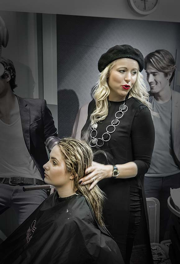 Poslovna Fotografija Frizerski salon Tia Spela Ribnikar Prokozmetika